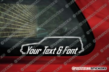 2x Volvo 240 GLT Turbo Station Wagon. YOUR TEXT Custom car surround Stickers.